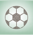 soccer ball sign brown flax icon on green vector image vector image