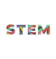 stem concept retro colorful word art vector image