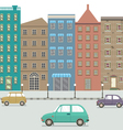 Three Type Of Cars In The City vector image