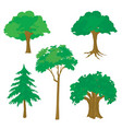 tree nature green cartoon vector image