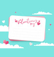 valentines day with cut letter paper vector image vector image