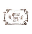 vintage banner design hand drawn scroll vector image