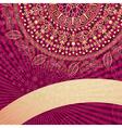 Vintage gold-purple frame vector image vector image