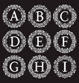 vintage monograms set letters from a to i in vector image