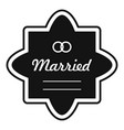 wedding label icon simple style vector image