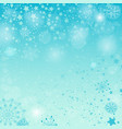 winter pastel blue christmas pattern vector image vector image