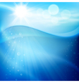 Water wave with bubbles in sunny day vector image