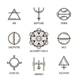 Big Set of geometric shapes Trendy hipster icons vector image