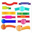 Ribbon halftone vector image