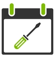 Screwdriver Tuning Calendar Day Flat Icon vector image