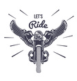 Vintage Motorcycle with Wigns vector image