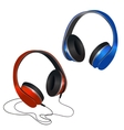 Red and blue headphones vector image
