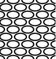 Abstract black and white ellipse pattern design vector image vector image