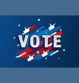 american patriotic background election day vector image