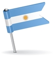 Argentine pin icon flag vector image vector image