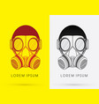 army gas mask vector image vector image