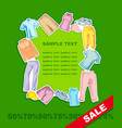 background with sportswear vector image