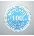 badge money back guarantee vector image