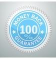 badge of money back guarantee vector image vector image
