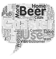Beer Coasters Will Drive Visitors To You text vector image vector image
