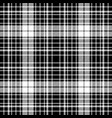 black and white diagonal plaid seamless pattern vector image vector image