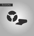 black and white style icon fabric diagram vector image
