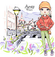 blond girl in ancy vector image vector image