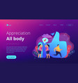body positive concept vector image vector image