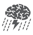 brainstorm glyph icon development and business vector image