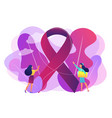 breast cancer concept vector image