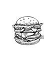 burger logo design template fast food or vector image vector image