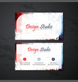 business cards templates vector image vector image