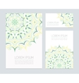 Business cards with hand drawn floral ornaments vector image