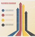business diagram template vector image vector image