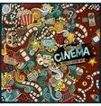 Cartoon cute doodles cinema frame design vector image vector image