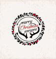 Christmas Greeting Design Element Vintage Style vector image vector image
