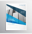clean geometric blue brochure template design for vector image vector image