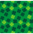 clover pattern vector image vector image