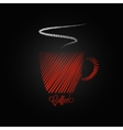 coffee cup red design background vector image vector image