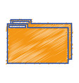 color folder file to save documents information to vector image vector image
