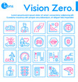 color line icon set vision zero vector image