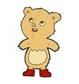 comic cartoon teddy bear vector image vector image