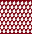 cute apple pattern vector image