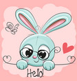 cute drawing rabbit vector image vector image