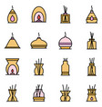diffuser icons set flat vector image vector image