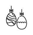 eater egg decoration line icon concept sign vector image vector image
