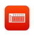 electronic synth icon digital red vector image vector image