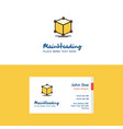 flat cube logo and visiting card template vector image vector image