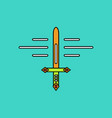flat icon design collection ancient sword vector image vector image