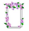 garden pink flowers seamless pattern vector image vector image